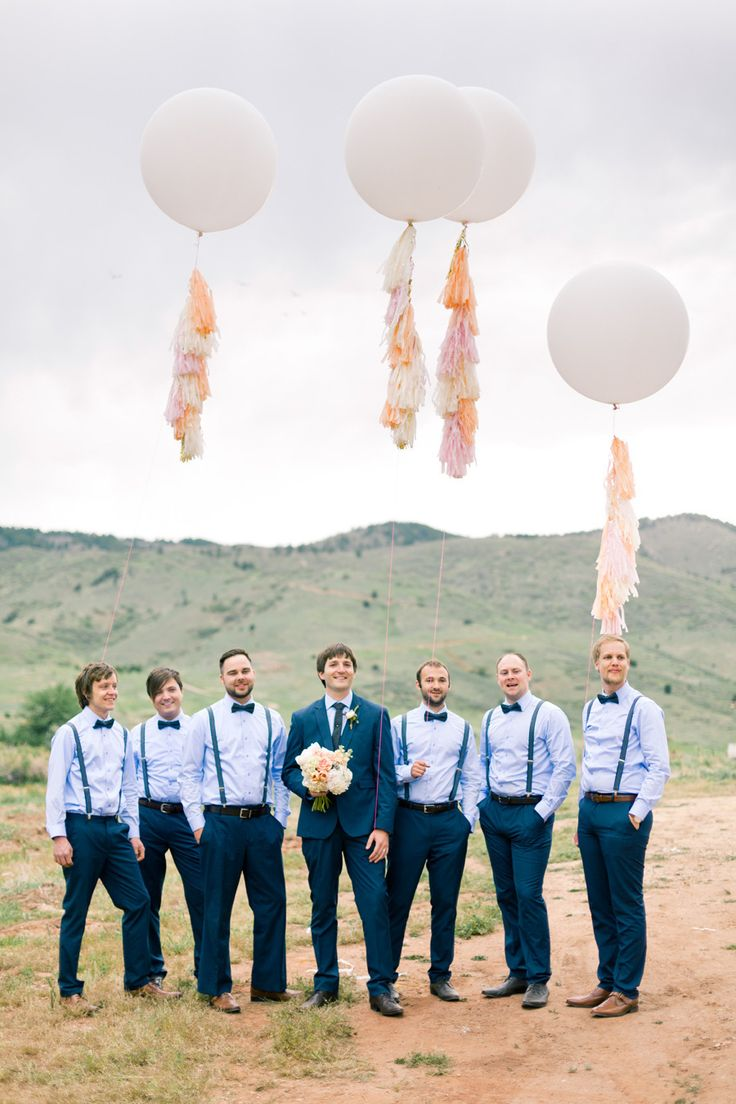 2014 Wedding Trends | Blue Weddings | Blue Wedding Inspiration | Groom + Groomsmen | and those balloons.. perfection!