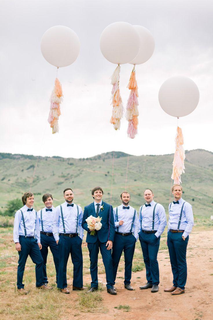 2014 Wedding Trends | Blue Weddings | Blue Wedding Inspiration | Groom + Groomsmen | and those balloons.. perfection!