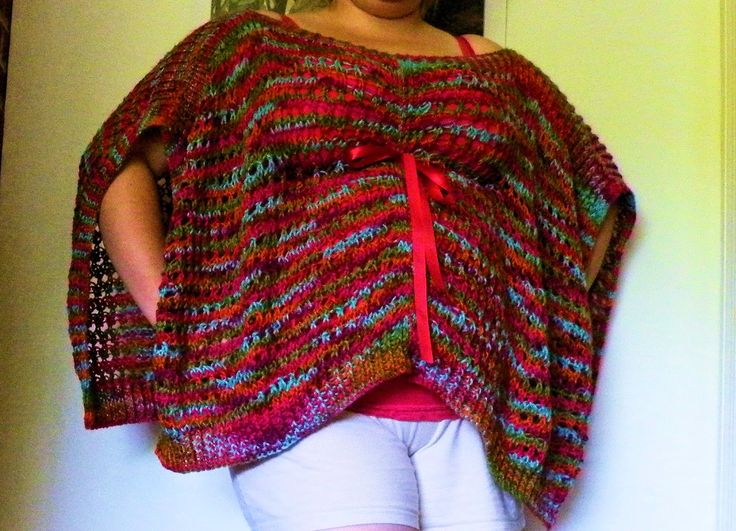 Loom knit adult cape pattern