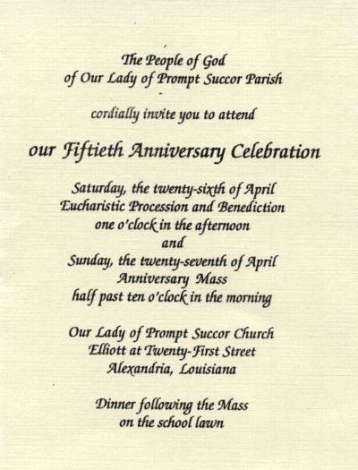 invitation for church anniversary sample