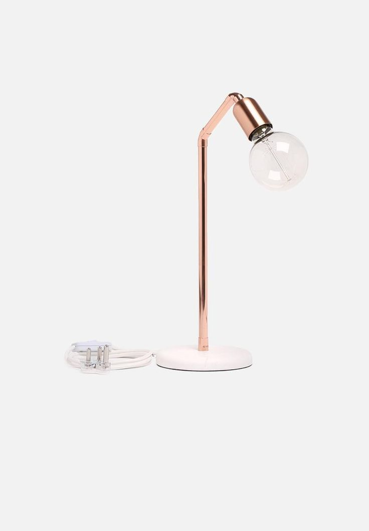 Copper Pipe Table Lamp - Marble & Copper