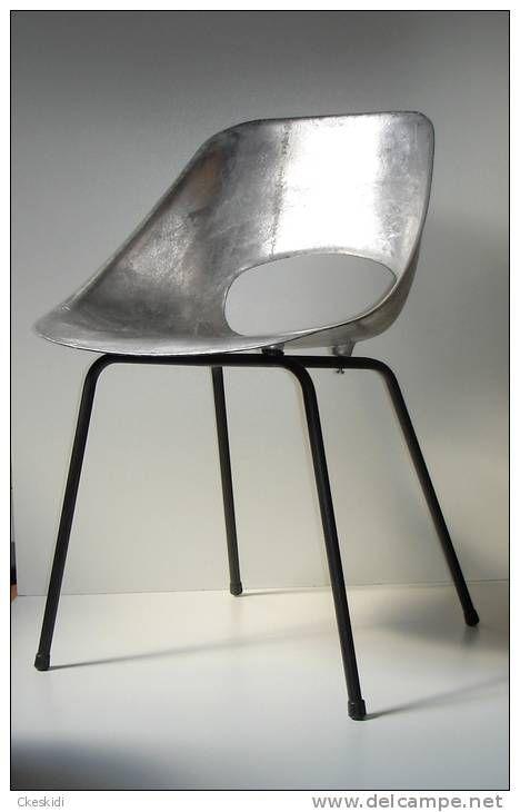 Tulipe aluminium Design 1950 Pierre Guariche pour Steiner Tulip chair 1954