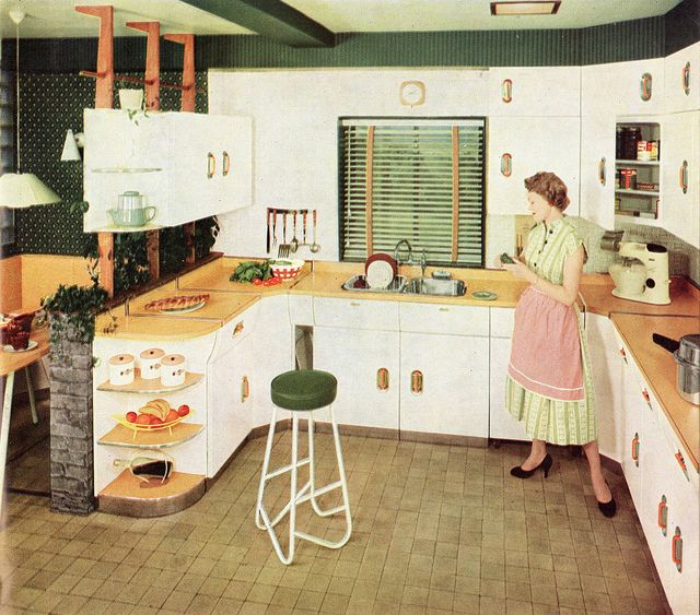 1950s Kitchen Design 227 best 1940s and 1950s kitchens images on pinterest | retro