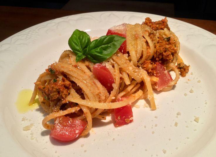 Linguine al pesto rosso Recipe on my blog: www.cukit.it