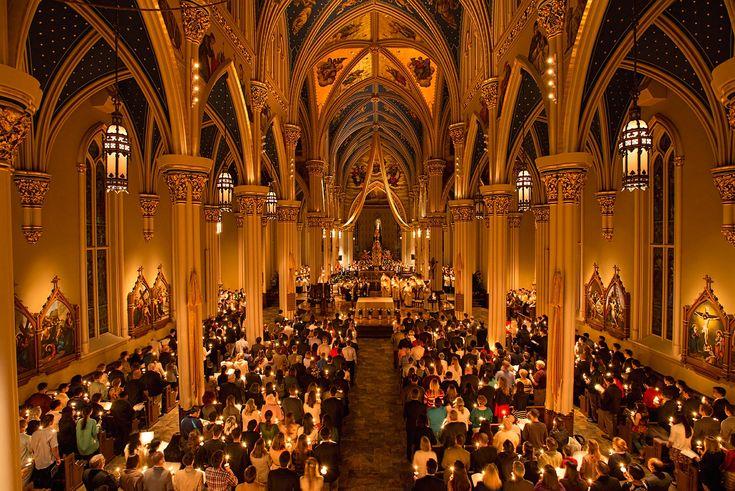 Easter Vigil Mass 2014 at Notre Dame.