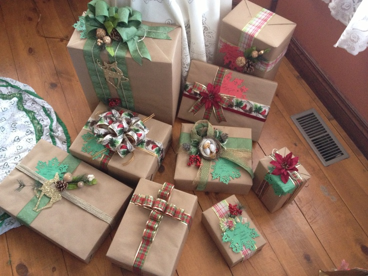 Brown paper packages all tied up with strings.....