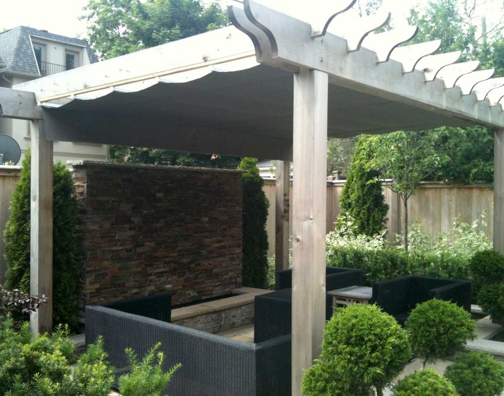 Waterproof manual retractable canopy 10 39 x 12 39 treated pine 2 beam pergola with optional - Waterdichte pergola cover ...