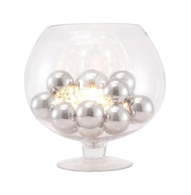 Terran Table Lamp The Elegance Of Chrome Orbs Enhances The Look Of This  Unique Table Lamp