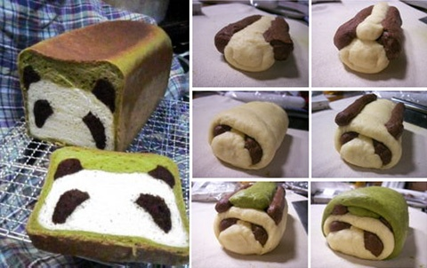 Panda bread! Wanna bake this with my girls