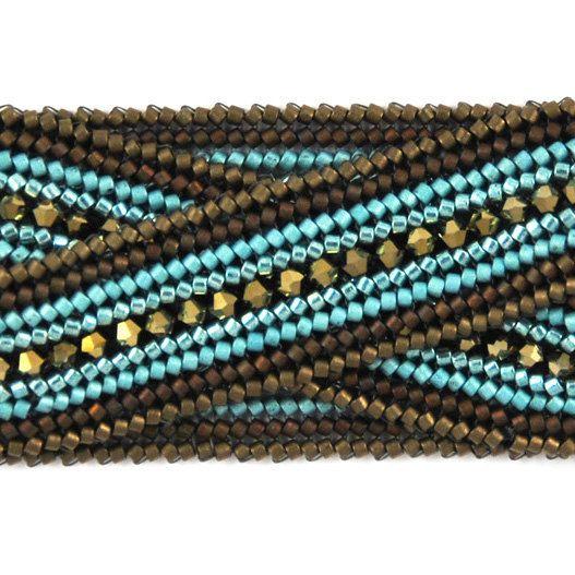 Herringbone bracelet tutorial at tamarascottdesigns on etsy  nice idea and colors for a bracelet