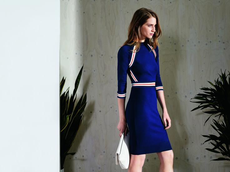 Blue dress karen millen spring