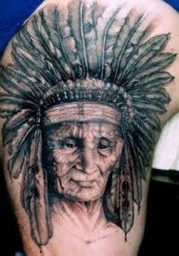 Native Indian Tattoo Designs-Indian Headdress Tattoos Designs Ideas