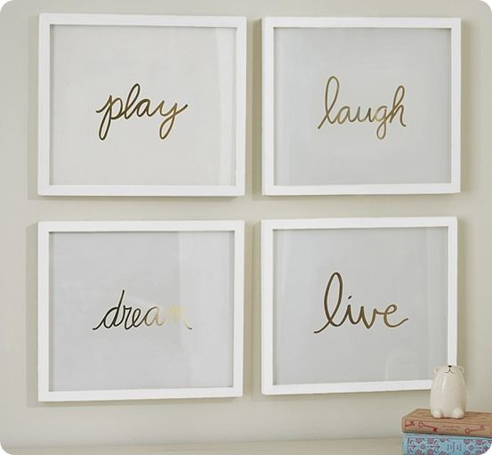 Pottery Barn Kids Gold Sentiment Letters