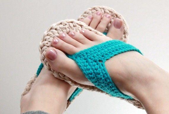 Crochet Pattern  Flip Flops Child to Adult sizes 310 от Mamachee