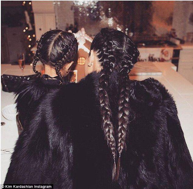 Kim Kardashian and daughter North wear matching braid hairstyles