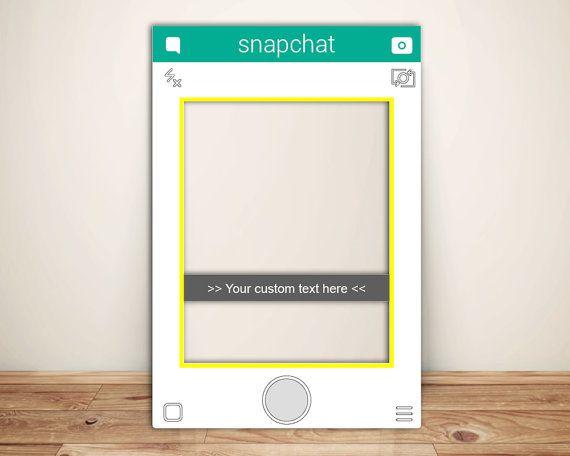 Snapchat Frame Custom Designed Photo Booth Prop (Digital File)