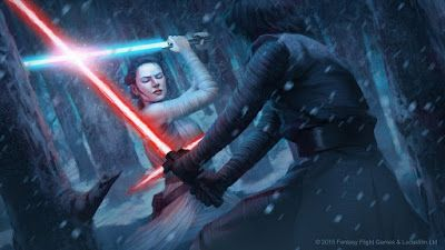 'Natural Affinity' by Tony Foti. Card art from 'Star Wars: Destiny' CCG from Fantasy Flight Games.