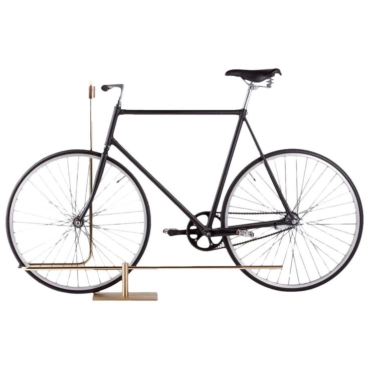 Bi-Track Bicycle Stand in Polished Brass by Masanori Mori, Wallpaper Award | From a unique collection of antique and modern industrial furniture at https://www.1stdibs.com/furniture/more-furniture-collectibles/industrial-furniture/
