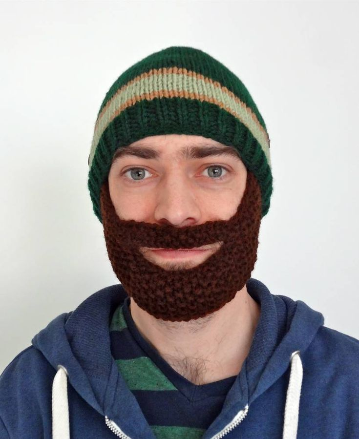 DIY Knit Beard Hat Pattern | Beard hat, Knitted beard, Hats