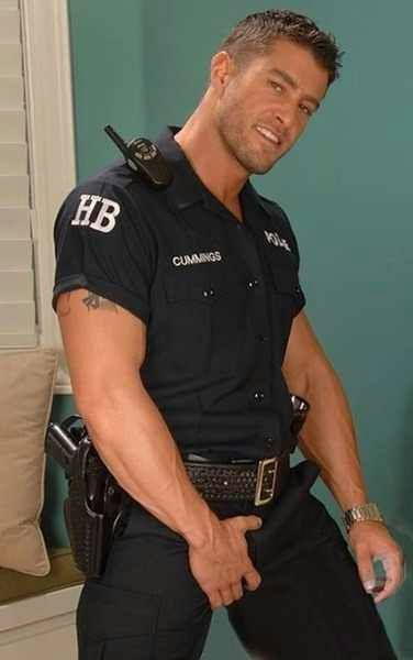 Sexy buff police gay porn first time get 7