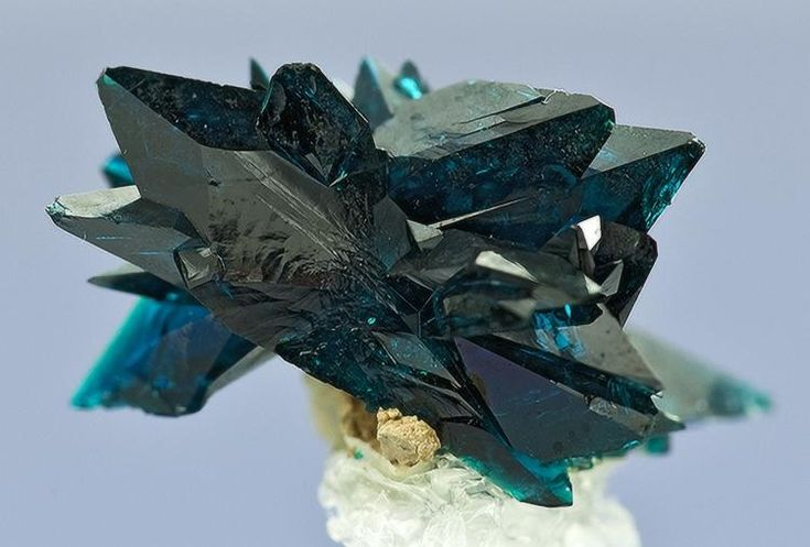 Veszelyite Black Pine Mine, Flint Creek Valley, Philipsburg District, Granite Co., Montana Specimen size 1.4 x 1.1 cm