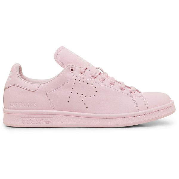 Raf Simons X Adidas Originals Stan Smith Light Pink Low Top Sneaker (635 CAD) ❤ liked on Polyvore featuring shoes, sneakers, light pink shoes, low tops and light pink sneakers