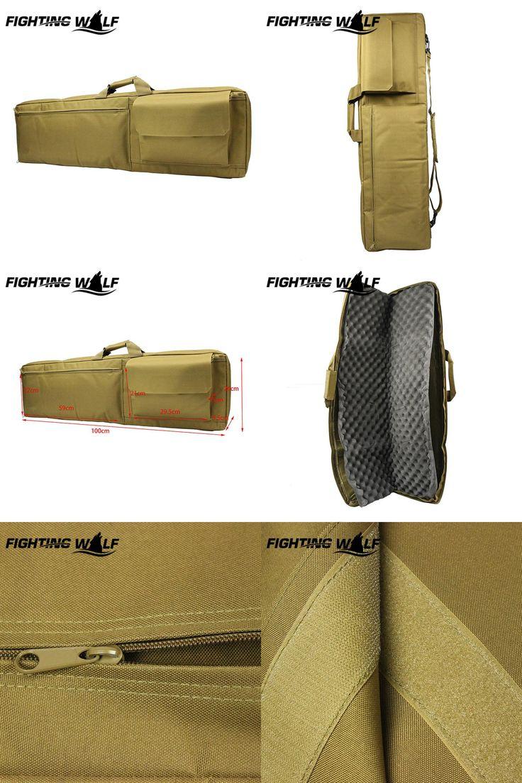 [Visit to Buy] 100CM Heavy Duty Tactical Gun Slip Bevel Carry Bag Rifle Case Shoulder Backpack Pouch Outdoor Tactical Wargame Hunting Gun Bag #Advertisement