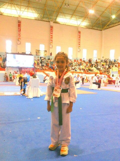 Cleo arnoya #medali perak Jakarta Taekwondo Festival