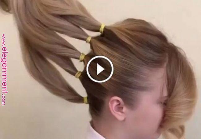 Separó su cabello en 5 secciones para crear algo realmente hermoso! | Cabello in 2019 | Pinterest | Hair, Hair styles and Hair videos #braidedhairstyles