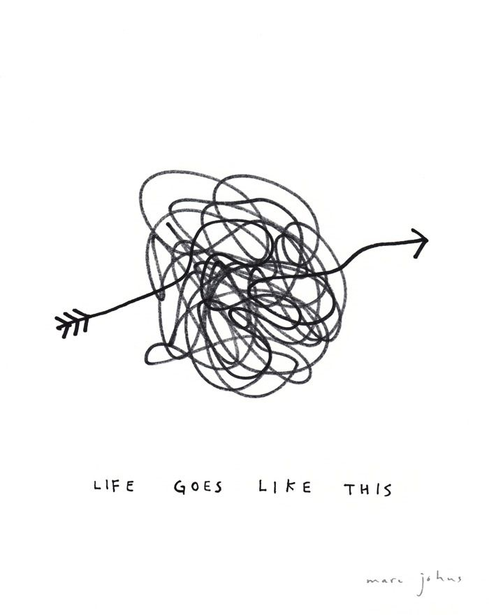 Life goes like this - by Marc Johns