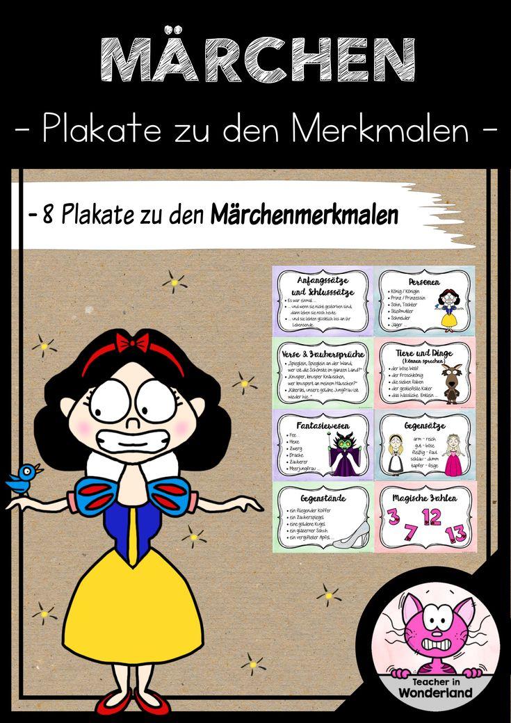 märchen: märchenmerkmale (8 plakate) - unterrichtsmaterial