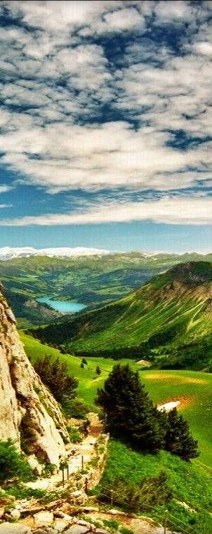 Scenic valley in Montreux, Switzerland