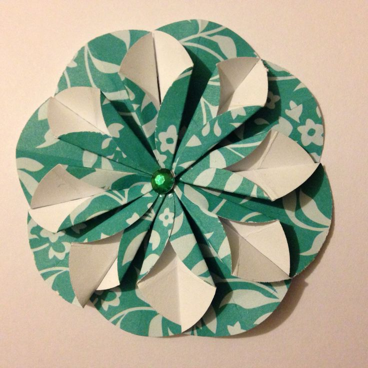 My paper flower to be used on my handmade cards