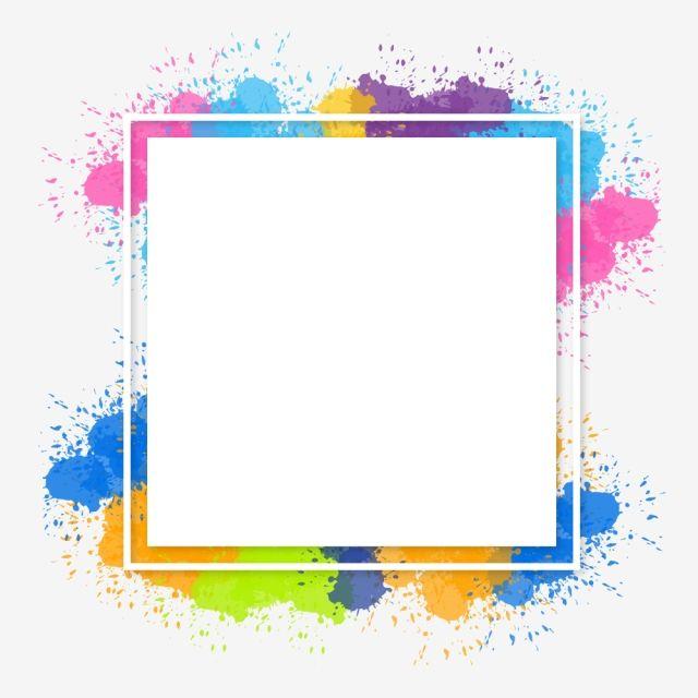 Watercolor Colorful Brush Splash Abstract Frame Background Vector And Png Lukisan Bunga Latar Belakang Desain Banner