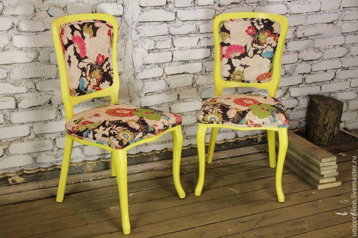 Как заменить обивку и покрасить стулья - Ярмарка Мастеров - ручная работа, handmade