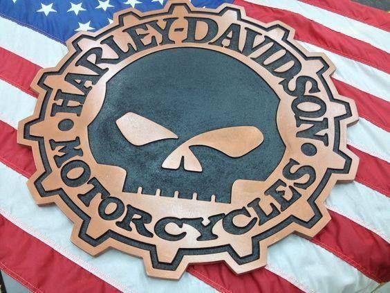 A 24 U201d Wide Punisher Harley Davidson Sign Milled On Our Cnc