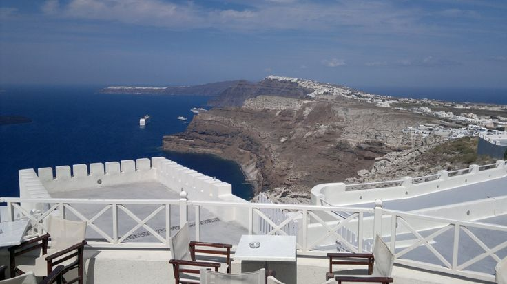 on top of Santowines - Santorini, Greece