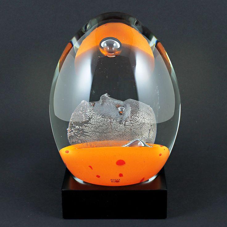 "Bertil Vallien (21st Century) Fascinating Large Glass Sculpture ""Dreamer"""
