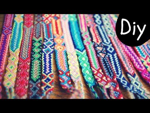 DIY How to make an Aztec style friendship bracelet Step by Step tutorial | boho | Creative Twins - YouTube