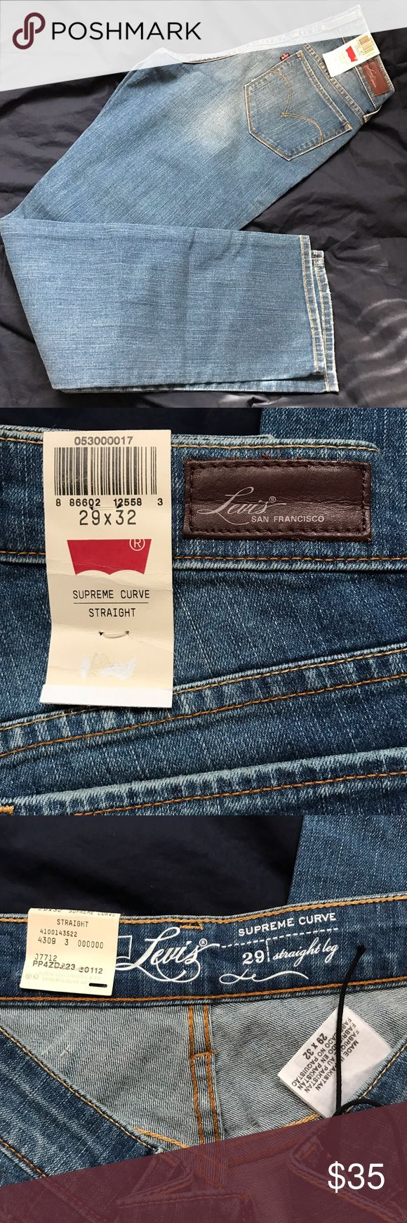 """Levi's women 29x32. NWT. Levi's women jeans new with tags. Straight leg. Supreme curve. 29x32. 29"""" waist. 32"""" inseam. Ask any questions. Retails $78+tax. Bundle and save. Levi's Jeans Straight Leg"""