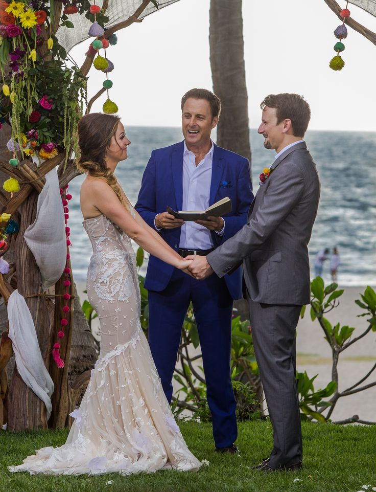 The Bachelor in Paradise star wore a unique feminine gown for her nuptials to costar Evan Bass