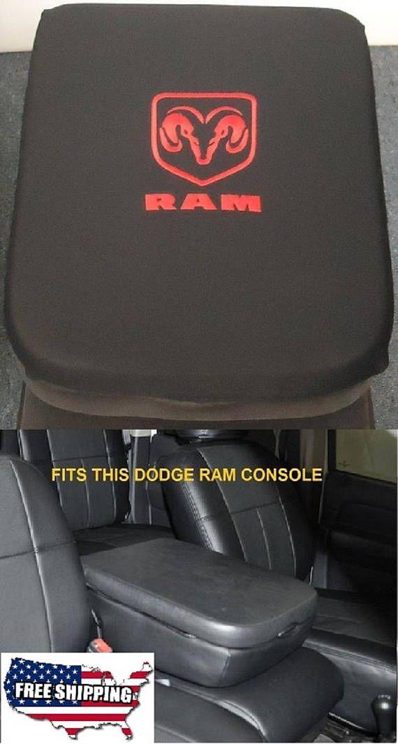 For 2011 2020 Dodge Ram 1500 2500 3500 4500 5500 Pickup Trucks Black Neoprene Center Console Armrest Cover Dodge Trucks Ram Dodge Ram Dodge Ram Trucks Black