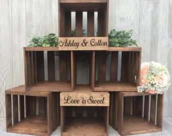 Crate-style Cupcake Stand: rustic cupcake stand by woodZweddings