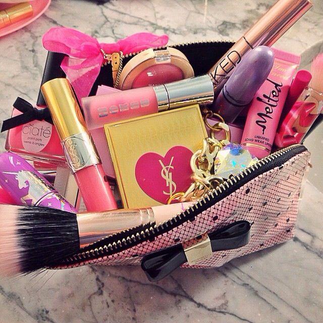 Pretty girly makeup bag