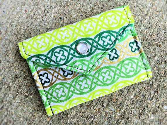 34 best business card cases business card holder gift card business card holder gift card holder green 100 cotton fabric it works great reheart Images
