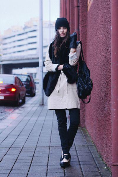 beige Armani Exchange coat
