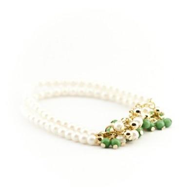 pulsera perlas  17,99 €  Pulsera con tira de cuentas perladas y racimo bolitas color