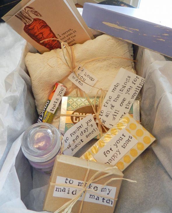 Bridesmaid Gift Boxes :  wedding bridesmaids diy pink purple teal yellow BMBoxInside