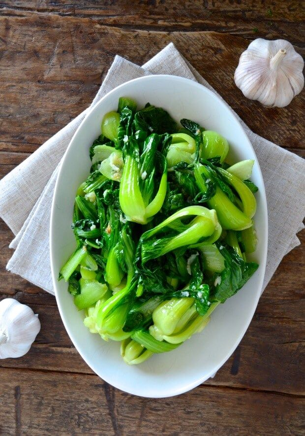 Garlic Baby Bok Choy by thewoksoflife.com