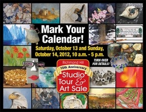 Don't forget to check out the fantastic and talented artists in Richmond Hill this weekend! pinned with Pinvolve